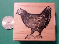 Hen, Wood Mounted Rubber Stamp