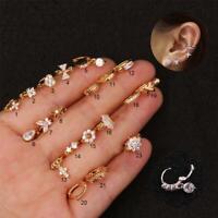 Women Zircon small earrings Ear Piercing Earring Punk Jewellery 2020