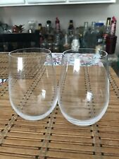 Riedel O Wine Tumbler Viognier Chardonnay Stemless Glasses Set Of Two - New