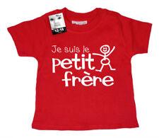Camiseta roja de 0 a 3 meses para niños de 0 a 24 meses