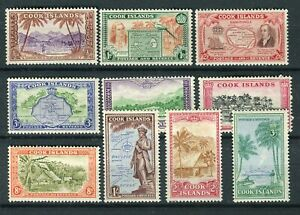 Cook Islands KGVI 1949-61 definitive set of 10 SG150/9 MNH