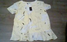 NEXT LADIES SHORT SLEEVED TUNIC YELLOW POCKET TOP SIZE 14 BNWT