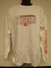 New Clemson University Tigers Mens Sizes L-XL White Shirt Long Sleeve