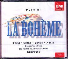 Puccini LA BOHEME Freni Nicolai Gedda Schippers 2cd Mazzoli Adani Sereni Basiola