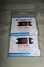 "2 Fashion Alert Engraved Stainless Steel Tags Heart Patient ""Must See"""