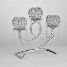 Party Wedding Event Crystal Candelabra 3Arm Candle Holder Candlestick Home Decor