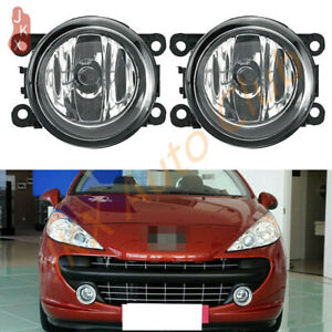 2PC Fog Light Bumper Lamp c For Peugeot 207 307 407 607 3008 SW CC VAN 2000-2013