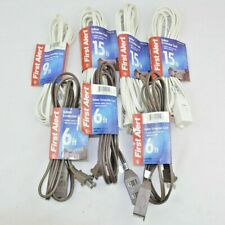Lot of 7 First Alert Indoor Extension Cord (3) 6ft, (1) 9ft, and (3) 15 ft New