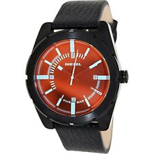 Diesel Men's DZ1632  Good Company Iridescent Dial Black Leather Watch