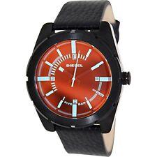 Diesel Men's DZ1632  Good Company Iridescent Dial Black Leather Watch