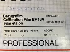 Agfa Professional Calibration Film Bf 16A 19,05 cm/s 25 B/s-16 mm