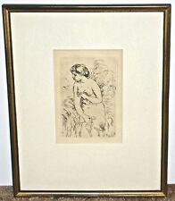 Renoir Etching of Bather
