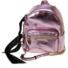 Victoria's Secret Pink Metallic Crackle Mini City Backpack