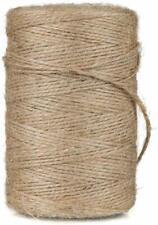25M naturel toile de jute rustique de hesse ficelle string craft corde sisal fil pendaison tag