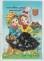 CP BRODEE EMBROIDERED BORDADA FOLKLORE Mon beau pays normand ca2001