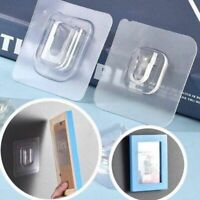 Wall Hooks Adhesive Double Sided Transparent Hanger Suction Strong Sucker Holder