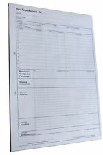 5 Blocks Bau-Tagesbericht Baubericht 2 - fach selbstdurchschreibend A4 (22235)