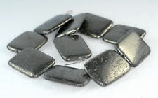 40X30MM  IRON PYRITE GEMSTONE RECTANGLE LOOSE BEADS 8""