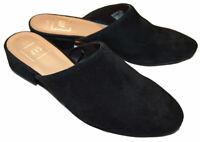 Gap NWT Black Suede Leather Mini Low Block Heel Mules 6.5 $80