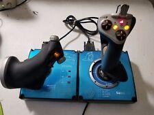 Saitek X45 Joystick With Throttle Combo Flightstick Simulation Controller