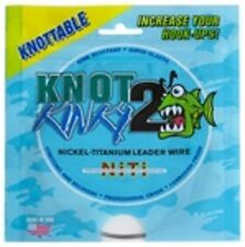 Knot 2 Kinky Nickel Titanium Leader Wire 25lb 15ft Single Strand