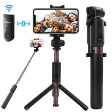 Extendable Selfie Stick Monopod Tripod for Cell Phone + Bluetooth Remote Shutter