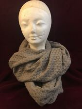 """Old Navy Infinity Scarf Gray Knitted 23"""" Wide Textured NWT"""