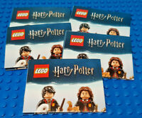 LEGO-MINIFIGURES HARRY POTTER SERIES (1) -5 NEW LEAFLETS  PLEASE READ