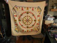 "Vintage Egypt 49"" x 49"" table cloth souvenir"