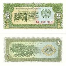 Laos LAO 5 Kip 1979 UNC Uncirculated banknote P-26a.2 Neuf