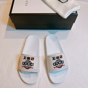 NWT Gucci Worldwide Pursuit Mens Slides