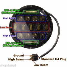 2 X PHARES FEU AVANT LED JEEP WRANGLER LAND ROVER HUMMER H1 H2 4X4 BUGGY RACING