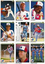 1990 UD Upper Deck BB Montreal Expos Master Team Set w/ Logo Hologram (34)