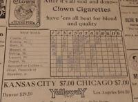1926 World Series Game 4 scorecard Babe Ruth 3 HR New York Yankees vs Cardinals