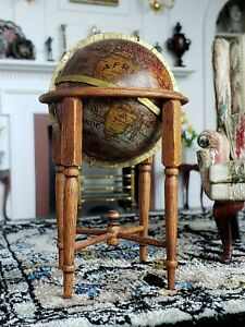 Dollhouse Miniature Artisan World Globe on Stand by Small Ideas Signed 1:12
