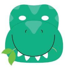 Jurassic Park Cute Dinosaur Party Supplies Paper Board Masks Pack of 6