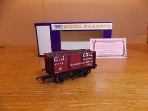 DAPOL 7-PLANK OPEN WAGON No 31 in C. J. COLE BRANKSOME Livery Limited Edition.