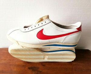 Vintage Nike 1982 Leather Cortez Shoes White/Red DeadStock Mens Size 15 Gump