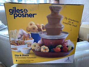 Giles & Posner EK3428G 90W Electric Chocolate Fountain with Food Tray and 100...
