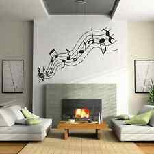 Grande MUSICA NOTE Vinile Salotto Adesivo Muro-Parete In Vinile ARTE