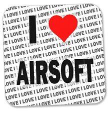 Me encanta Airsoft-Bebidas Posavasos-Regalo-Cumpleaños-Stocking Filler