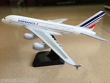 20CM Solid AIR FRANCE AIRBUS A380 Passenger Airplane Plane Metal Diecast Model C