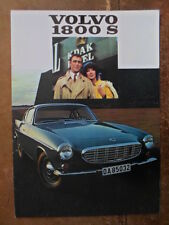 VOLVO 1800S SPORTS CAR orig 1968 UK Mkt Sales Brochure - P 1800 S b)