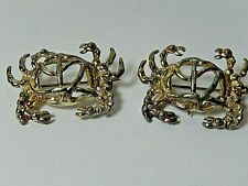 Vintage Crab Brooches Lot of two 1 1/2 x 1 '