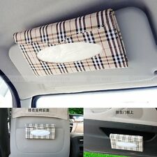 Car sun visor Tissue box Auto accessories holder Paper napkin clip- PU leather