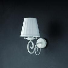 Applique Provenzale A Candelabro Bianco Shabby Con Paralume Alma 1 Luce
