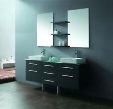 "Bathroom Vanity - Modern Bathroom Vanity Set - Double Sink - Sea Breeze II - 59"""