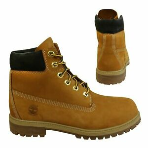 Timberland 6 Inch Premium Juniors Boots Kids Shoes Wheat Leather A1VE5 B44E