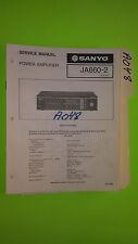 Sanyo ja660-2 service manual original repair book stereo power amp amplifier