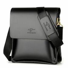 Leather Messenger Bag Men's Shoulder Formal Business Cross Body Bag Briefcase